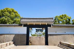 大阪城桜門の写真素材 [FYI04541240]
