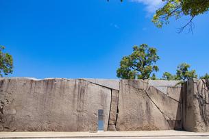 大阪城蛸石 桜門枡形の巨石の写真素材 [FYI04541243]