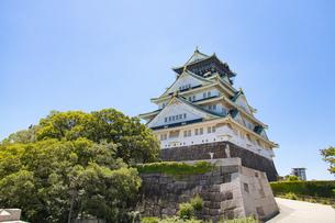 青空の大阪城の写真素材 [FYI04541258]