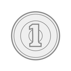 日本のお金 一円硬貨 イラストのイラスト素材 [FYI04542601]