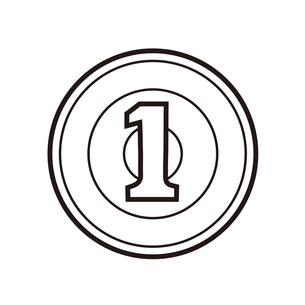 日本のお金 一円硬貨 イラストのイラスト素材 [FYI04542602]