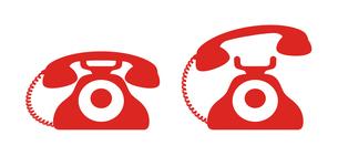 昭和レトロな電話のアイコン イラストのイラスト素材 [FYI04542780]