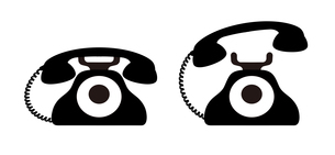 昭和レトロな電話のアイコン イラストのイラスト素材 [FYI04542781]