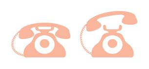 昭和レトロな電話のアイコン イラストのイラスト素材 [FYI04542782]