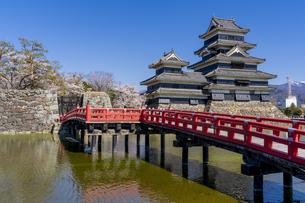 春の信州・松本城の写真素材 [FYI04542980]