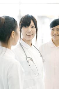 打合せをする看護師の写真素材 [FYI04543434]