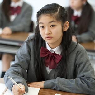 勉強をする中学生の写真素材 [FYI04543946]