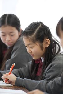 勉強をする中学生の写真素材 [FYI04543977]
