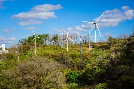 新風力発電所 グリーンエネルギー青森の写真素材 [FYI04544710]