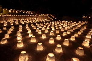 定山渓温泉の雪灯炉の写真素材 [FYI04545251]