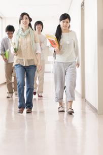 大学の廊下を歩く大学生の写真素材 [FYI04547154]