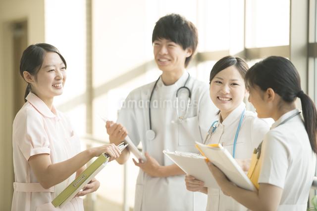 打合せをする看護師の写真素材 [FYI04548188]