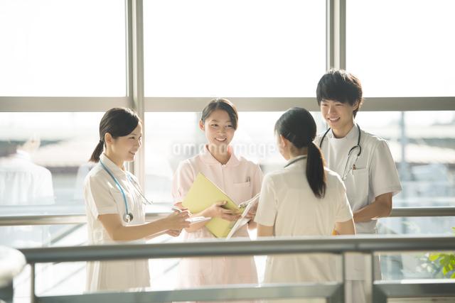 打合せをする看護師の写真素材 [FYI04548245]