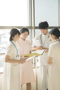 打合せをする看護師の写真素材 [FYI04548255]