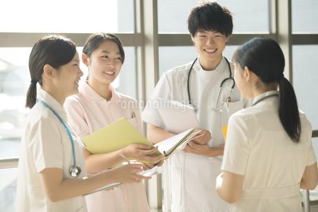 打合せをする看護師の写真素材 [FYI04548256]