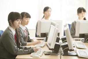 パソコンの授業を受ける女子学生の写真素材 [FYI04548702]