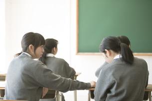 勉強を教え合う女子学生の写真素材 [FYI04548728]