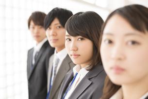 真剣な表情をするビジネスウーマンとビジネスマンの写真素材 [FYI04551203]
