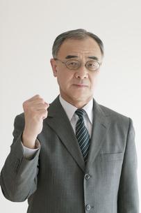 ガッツポーズをするビジネスマンの写真素材 [FYI04551290]