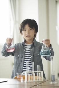 実験をする小学生の写真素材 [FYI04553654]