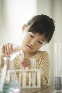 実験をする小学生の写真素材 [FYI04553657]