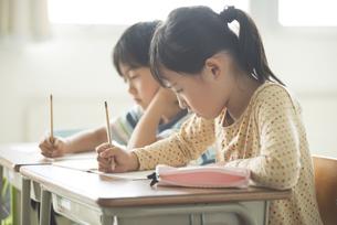 勉強をする小学生の写真素材 [FYI04553736]