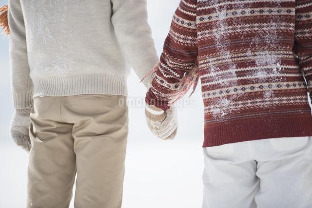 手をつなぐカップルの後姿の写真素材 [FYI04553951]