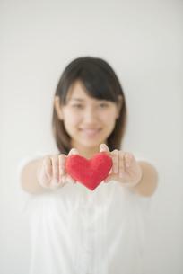 ハートを持つ女性の手元の写真素材 [FYI04555709]