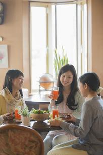 カフェで談笑をする女性の写真素材 [FYI04556246]