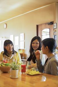 カフェで談笑をする女性の写真素材 [FYI04556277]