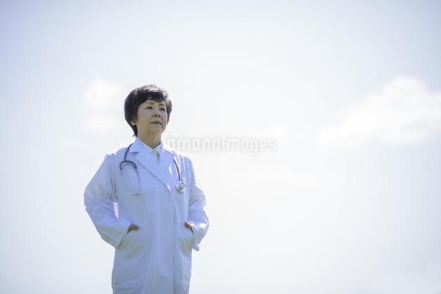真剣な表情をする女医の写真素材 [FYI04556984]