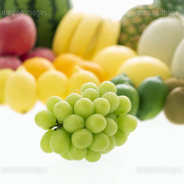 ブドウとフルーツの集合の写真素材 [FYI04559811]
