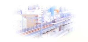 電車と街並みの写真素材 [FYI04560893]