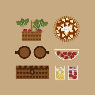 ピクニックのイメージイラストのイラスト素材 [FYI04561140]