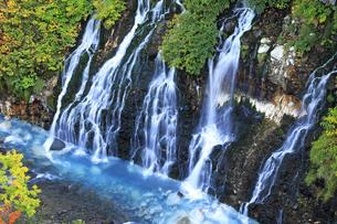9月 白髭の滝  -北海道の秋-の写真素材 [FYI04561404]