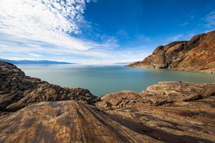パタゴニア・ビエドマ氷河の擦痕の写真素材 [FYI04561422]
