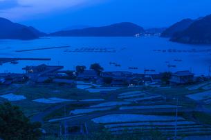 日引の棚田 夜明け前の写真素材 [FYI04561864]
