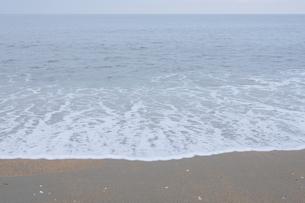 泡をたてる海岸の波の写真素材 [FYI04561916]