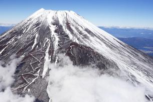 静岡県 富士山の南側斜面(空撮)の写真素材 [FYI04562151]