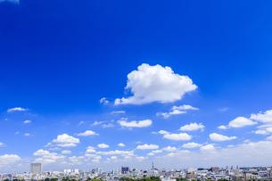 立川市街と雲の写真素材 [FYI04562307]