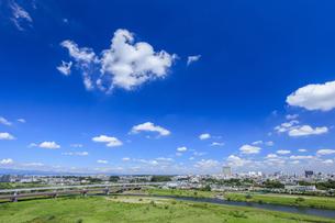 立川市街と空の写真素材 [FYI04562309]