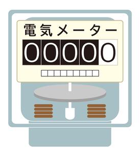 電気メーター イラストのイラスト素材 [FYI04562792]