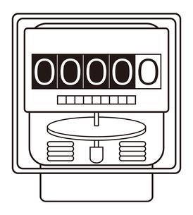 電気メーター イラストのイラスト素材 [FYI04562796]