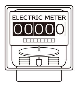 電気メーター イラストのイラスト素材 [FYI04562797]
