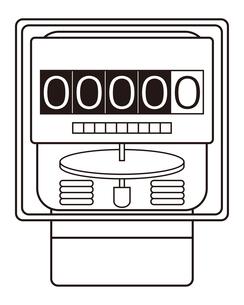 電気メーター イラストのイラスト素材 [FYI04562799]