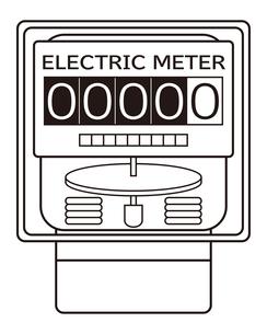 電気メーター イラストのイラスト素材 [FYI04562802]