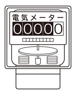 電気メーター イラストのイラスト素材 [FYI04562805]