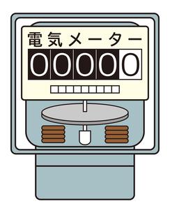 電気メーター イラストのイラスト素材 [FYI04562806]