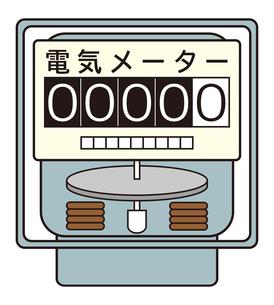 電気メーター イラストのイラスト素材 [FYI04562809]
