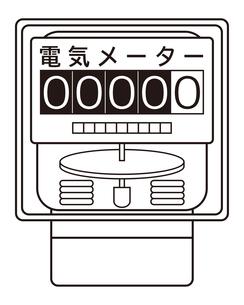 電気メーター イラストのイラスト素材 [FYI04562811]